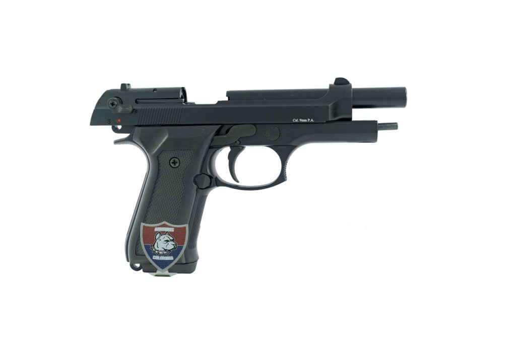 PISTOLA TRAUMATICA BLOW F92 MATE AIRGUNS COLOMBIA